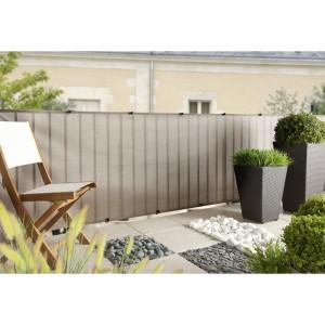 Everly dekoratív árnyékoló 1x5m (szürke) 85%